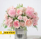 Silk Peony Artificial Fake Flowers Bunch Bouquet Home Wedding Party Decor KS-FAM