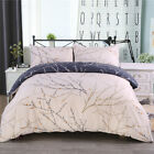 3Pcs Reversible Printed Duvet Cover Pillowcase Bedding Set Comforter Quilt Cover