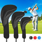 3x Golf Club Iron Head Cover Set Long Neck For Callaway Ping Taylormade Titleist