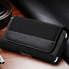Extra Large Belt Clip Pouch Case Leather Carrying Cover Holster For Cell Phone
