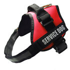 Adjustable Service Dog Harness Vest Patches Reflective Small Large S-M-L-XL