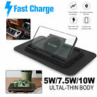 Qi Wireless 10W Fast Charging Stand 2in1 Car Charger Mount Holder For Cell Phone