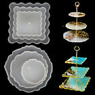 3 Tiers Fruit Dish Silicone Coaster Epoxy Resin Mold Casting Stand Agate DIY Art