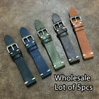 WHOLESALE 5pcs Mix Handmade Cow Leather Watch Strap Band Size 18/20/22mm 110A