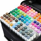 80 Color Set Marker Pen Alcohol Graphic Art Twin Tip Markers For Student Artist