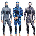 Neoprene 3mm Winter Camo Wetsuit Two Piece Hooded Spearfishing Diving Full Suit