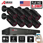 ANRAN CCTV PoE 3MP/5MP Security Camera System HDMI NVR Outdoor 1944p Camera 2TB