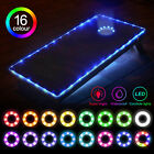 2PCS LED Cornhole Board Edge Lights 16 Color Change Corn Hole Game Bean Bag Toss