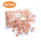 50-200 Pair Foam Ear Plugs Orange Soft Individually Wrapped Noise Cancelling