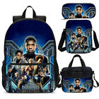 S/4 Kids Schoolbag Black Panther Backpack Insulated Lunch Sling Bag Pen Case Lot
