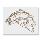 Salmon Fish Stencil - Reusable Mylar Stencils for Painting