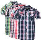 Geographical Norway Homme Chemise à Carreaux Manches T-Shirt Polo Club Zartar