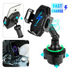 7.5W Qi Wireless Car Fast Charger Phone Cup Holder Mount For iPhone 11 Samsung