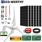1400W 1000W 600W  Hybrid Power Generator Kit Wind & Solar Panel Kit For Home