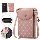 Women PU Wallet Crossbody Bag Shoulder Pouch Holder Cell Phone Purse Card Case