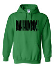 Christmas Pullover Hoodie Sweatshirt BAH HUMBUG White Red Green Adult Youth