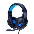 3.5mm Wired LED Stereo Bass Surround Mic Gaming Headset for PS4 New Xbox One PC picture