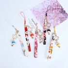 Phone Strap Lanyards Daisy Flower Cat Bell Mobile Phone Hang Rope Charm Decor