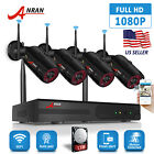 ANRAN 2MP Home Outdoor Wireless Security Camera System HD Video WIFI 8CH NVR 1TB