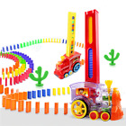 Dominoes Game Electric Train Kids Toy Automatic Car Children Christmas Gift
