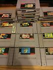 SNES GAMES LOT SUPER NINTENDO YOU PICK-BUY 5 GET 1 FREE-UPDATE 11/09-NEW TITTLES