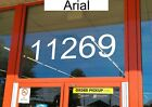 "Storefront Address Numbers 4-12"" Tall - Office Store Window Custom Vinyl Decal"