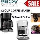 12 Cup Coffee Maker Machine Programmable Kitchen Counter Top Home Manual