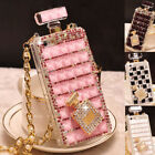 For iPhone 12 Pro Max 11 XS XR 8 7 6 Bling Sparkle Diamond Perfume Bottle Case
