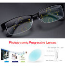 Photochromic Progressive Reading Glasses Metal Half Frame 1.0 1.5 2.0 2.5 3.0
