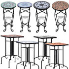 Garden Iron Ceramic Side Coffee Bistro Table Mosaic Patio Plant Stand Outdoor