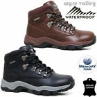 Mens MEMORY FOAM Leather Walking Hiking Waterproof Ankle Boots Trainers Shoes