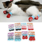 Pet Cat Paw Socks for Small Large Dogs Knitted Cotton Non Slip Pet Puppy Shoes