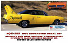 GE-QG-285 1970 PLYMOUTH SUPERBIRD - COMPLETE STRIPE & BIRD DECAL KIT - CHOOSE  for sale