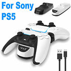 For PS5 PlayStation5 Controller USB Dual Charger LED Dock Station Charging Stand