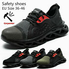 Work Boots Men Safety Shoes Labor Shoes Steel Toe Cap Indestructible Sneakers t