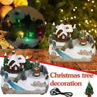 LED Lights Christmas Village House Luminous Figurines Animated Music Xmas Gifts