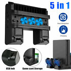 5in1 Vertical Stand Cooling Fan Charging Station USB Hub for Sony PS4 Pro/ Slim