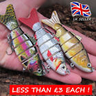 3 x REALSCALE pike fishing lure jointed savage slow sink countdown swimbait gear