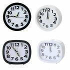 Small Mini Round Alarm Clock Quartz Analogue Desk Bedside Snooze Home Decoration