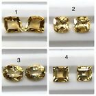 Natural Citrine Pairs Faceted Loose Gemstone Top Earring Size Cut Calibrate AAA+