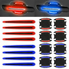 8Pcs Car Door Handle Bowl Protective Film Reflective Sticker Strips Anti-Scratch
