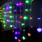 96/216 LED Fairy String Hanging Heart Light Waterproof Christmas Party Decor