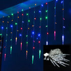 96/216 LED Fairy String Hanging Icicle Light Waterproof Christmas Party Decor