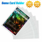 100/400pcs Soft Game Card Sleeves Ultra Clear Holders Protector Size 61mm X 87mm