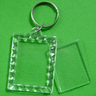 Split Frame Keyrings Various Shapes Key Chain Ring Finder Fashion Acrylic Clear