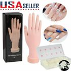 Nail Art Training Hand Flexible Movable Fake Hand Manicure Practice  Nail Tips
