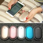 Pocket Hand Warmers Heat Electric Hothands USB Charger Rechargeable Power Bank