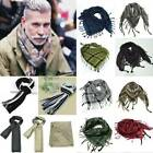 Men Military Arab Tactical Army Shemagh KeffIyeh Tassle Casual Scarf Neck Unisex