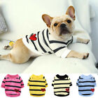 Pet Dog Cat Clothes Striped Love Sweater T-shirt Coats Puppy Chihuahua Clothing