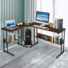 L-shaped Computer Desk Gaming Corner Desk Home Office Workstation Study + Shelf
